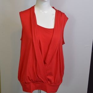 New Directions Red Blouse size L